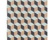 3D retro tapeta 220365 Geometry | Lepidlo zdarma Vavex