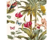 Tapeta Palmy s papoušky JF2001 Botanica | Lepidlo zdarma Vavex