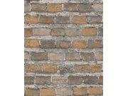 Tapeta hnědá cihlová zeď Factory IV 428056 | Lepidlo zdarma Rasch