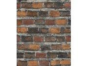 Tapeta hnědá cihlová zeď Factory IV 428063 | Lepidlo zdarma Rasch
