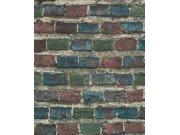 Tapeta barevná cihlová zeď Factory IV 428070 | Lepidlo zdarma Rasch