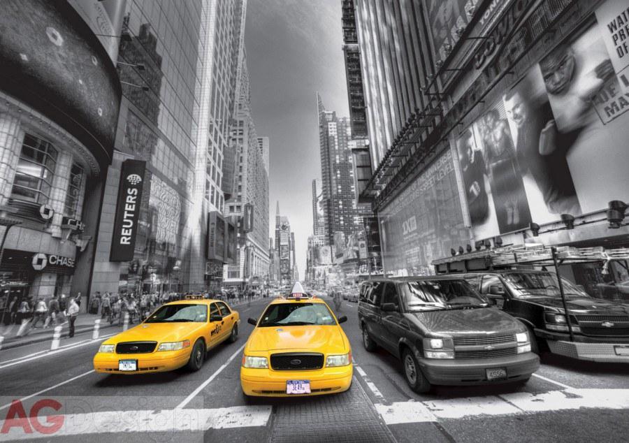 Fototapeta AG Žluté taxi FTS-1310 | 360x254 cm - Fototapety skladem