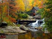 Fototapeta AG Autumn mill FTNXXL-1116 | 360x270 cm Fototapety