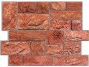 3D obkladový PVC panel pískovec tmavě červený DP0002 3D obkladové panely