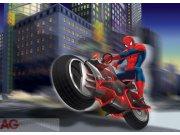 Fototapeta AG Spiderman na motorce FTDNM-5222 | 160x110 cm Fototapety