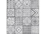 Tapeta Ceramics šedý patchwork 270-0177 | šíře 67,5 cm Tapety skladem