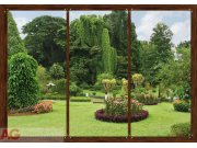 Fototapeta AG Okno do zahrady FTS-1314 | 360x254 cm Fototapety skladem
