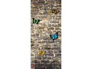 Fototapeta Butterfly on the Wall FTNV-2905 | 90x202 cm Fototapety
