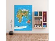 Fototapeta AG Mapa Světa FTNXL-2540 | 180x202 cm Fototapety