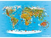Fototapeta AG Mapa světa FTNM-2650 | 160x110 cm Fototapety