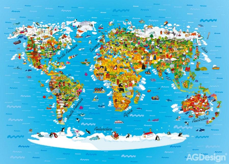Fototapeta AG Mapa světa FTNM-2650 | 160x110 cm - Fototapety