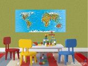 Fototapeta AG Mapa světa FTNH-2731 | 202x90 cm Fototapety