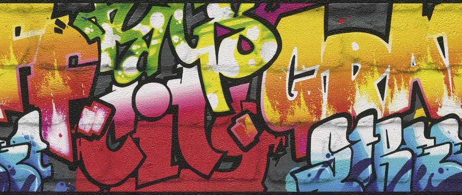 Bordura Kids & Teens graffiti 237900 - Rasch
