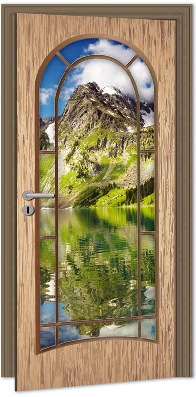 Samolepící Fototapeta na dveře DL017 Light door - Fototapety