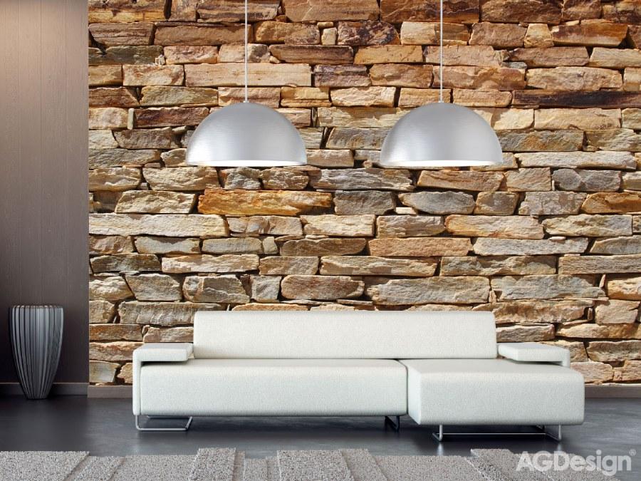 Fototapeta AG na zeď Kamenná zeď FTS-1319 | 360x254 cm - Fototapety