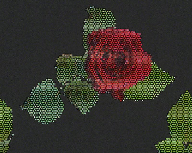 Tapeta mozaika růže 94407-3 - Tapety skladem