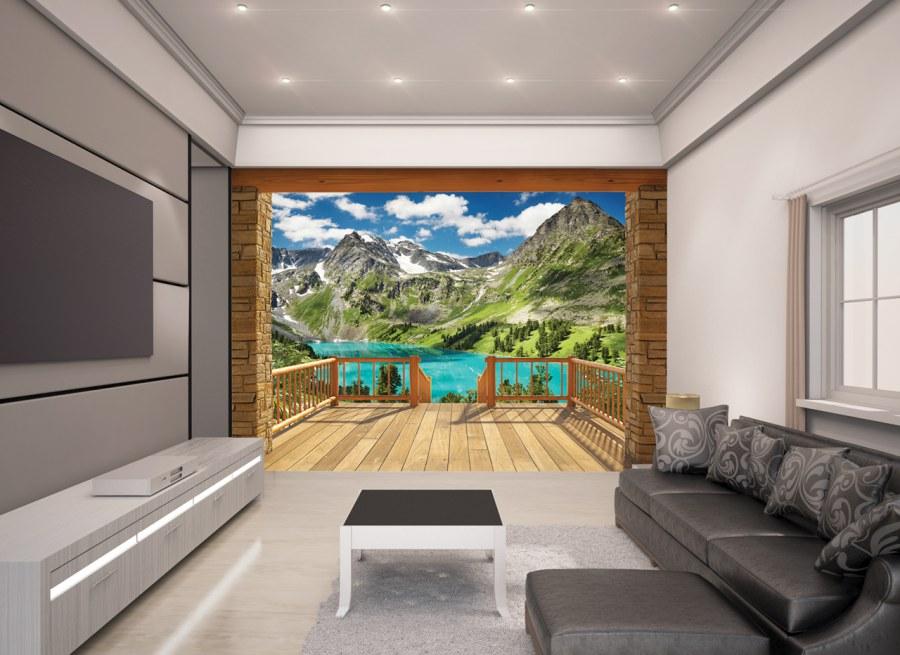 3D Fototapeta Walltastic Alpy 43619 | 305x244 cm - Fototapety